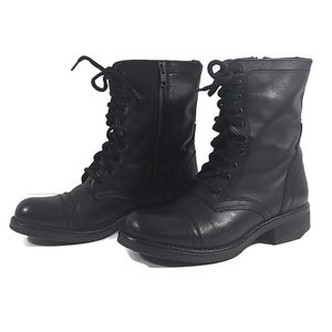 Steve Madden  Leather Tropa 2.0 Combat Moto Boots